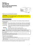 User Manual - Projector Central