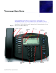 TELEPHONE USER GUIDE