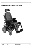 Spare Part List INVACARE ® Tiger