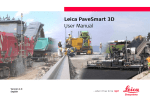 Leica PaveSmart 3D User Manual - Surveying Technologies and