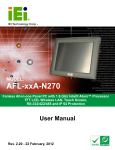 AFL-xxA-N270 Series Panel PC User Manual
