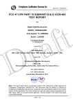 Laboratory Test Report