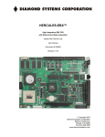 Hercules EBX User Manual - Diamond Systems Corporation