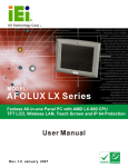 AFOLUX LX Series Flat Panel PC User Manual