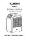 MODEL: DC10RCDH / DC12RCDH PORTABLE AIR CONDITIONER