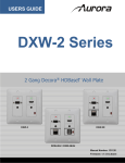 DXW-2 Series Users Guide - AV-iQ
