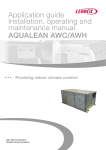 AQUALEAN AWC/AWH Application guide Installation, operating and