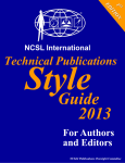 NCSL International Technical Publications Style Guide