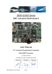 SB35-G2000 Series SBC industrial Motherboard User Manual