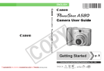 Canon PowerShot A580 User Guide Manual pdf