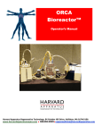 ORCA Bioreactor Manual - Harvard Apparatus Regenerative