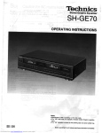 shge70 User manual - hifiaudiophilevintage
