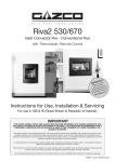 Riva2 530 670 Conventional Flue Instructions