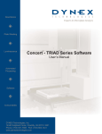 Concert - TRIAD Series Software User`s Manaul