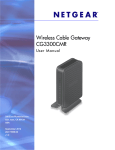 Wireless Cable Gateway CG3300CMR User Manual