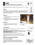 User manual wireless sensor Optiscan: