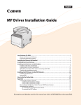 MF8300C/MF8000C Series MF Driver Installation Guide
