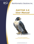 RAPTOR User Manual 3.0 - Bioinformatics Solutions Inc.