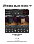 Recabinet 4 / Thermionik User Manual
