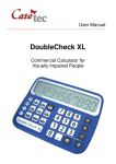 DoubleCheck XL - Sight and Sound Technology