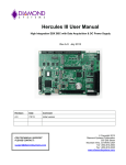 Hercules III User Manual - Diamond Point International