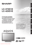 Sharp LC-37XD1E user manual Tv User Guide Manual Operating