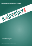 Kaspersky Endpoint Security 8 for Mac Administrator`s