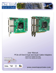 User Manual, PCIe x8 Gen3 Dual and Quad Cable Adapters