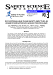 Occupational health and safety aspects of an urban stormwater data