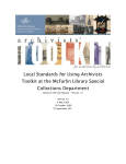 Local Standards for Using Archivists Toolkit at the McFarlin Library
