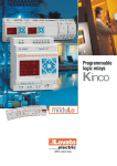 Leaflet - Programmable logic relays KINCO