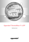 Eppendorf ThermoMixer F1.5 and FP Operations Manual