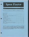 Ipso Facto Issue 27