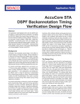AccuCore STA DSPF Backannotation Timing Verification