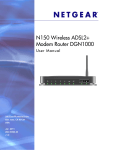 N150 Wireless ADSL2+ Modem Router DGN1000 User Manual
