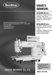 USER`S MANUAL - Keystone Industrial Sewing Machine Co., Inc