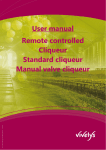 User manual Remote controlled Cliqueur Standard cliqueur Manual