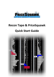 Recon Tape Quick Start Guide - PriceSquawk Audible Markets
