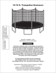 12 Ft Spring Trampoline with Safety Enclosure User Manual