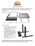 Fireplace Grill User Manual