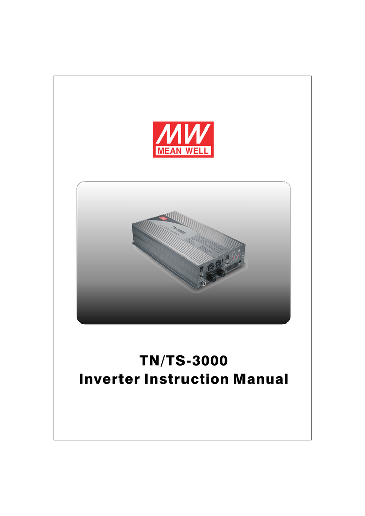 TN/TS-3000 Inverter Instruction Manual