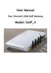 User Manual Model: GoIP_4 - Discovery Telecom Technologies