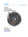 C-Nav™ GPS System Operations Manual - C