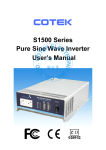 S1500 Series Pure Sine Wave Inverter User`s Manual