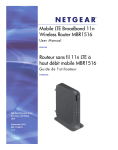 4G LTE NETGEAR MBR1516 Turbo Hub user guide