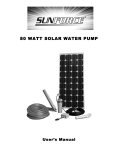 80 WATT SOLAR WATER PUMP - Northern Tool + Equipment
