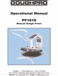 Operation Manual - Whaley Food Service