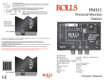 PM351 Personal Monitor System