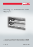 Operating and installation instructions Steam oven