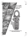 Compact AC Digital , AC/DC Clamp Meter User Manual